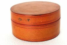 Burmese Printed Box Cane Made Antique Vintage Old Collectible Decorative A-99