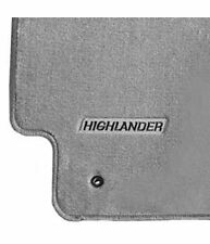 2004-2007 HIGHLANDER W/O 3RD ROW CARPET FLOOR MATS ASH GRAY GENUINE TOYOTA