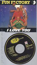 CD--FUN FACTORY -  - - SINGLE -- I LOVE YOU