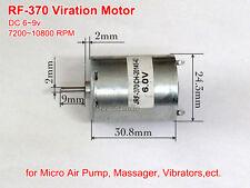 New DC6V 9V RF370 Small 10800rpm Micro Vibration Motor for Massage Mini Air Pump