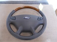 02-03 FORD TAURUS STEERING WHEEL W/ AIRBAG WOODGRAIN