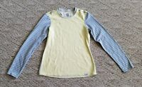 EUC WOMEN'S PATAGONIA CAPILENE 3 LONG SLEEVE SHIRT BASELAYER COLOR YELLOW SZ. XS