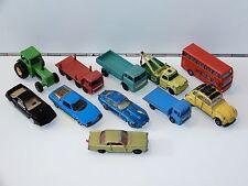 MATCHBOX LOT OF 13 MODEL CARS 1980s MAJORETTE EDOCAR E-TYPE 2CV