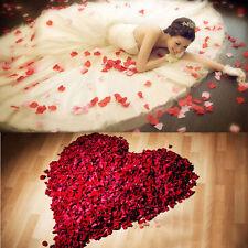 1000 Red Silk Rose Petals Confetti Flower Wedding Celebration Decorations