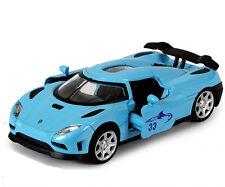 Blue 1:32 Scale Koenigsegg Agera Sports Car Diecast model Sound & Light 4-Doors