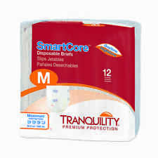 Tranquility SmartCore Disposable Briefs Medium Pack of 12 - #2312 Adult Diaper