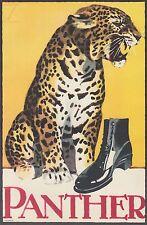 Ludwig Hohlwein - Farbige Werbegraphik 20er Jahre - Motiv Panther Schuhe