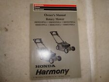 Honda Owners Manual Lawn Lower HRM215 HRB215