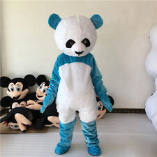 Blue/White Panda Bear Mascot Costume Fancy Party Dress Cosplay Adult Outfit Suit