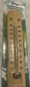 Large Wooden Hanging Outdoor Thermometer Gauge for Garden, Greenhouse, Workshop