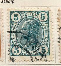 Austria 1904 PRIMA EMISSIONE USATO FINE 5h. 093457