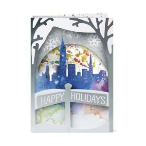 MoMA Holiday Cards Winter Skyline 7 cards with envelopes, 1 set
