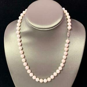 """Akoya Pearl Necklace 14k White Gold 18"""" 8 mm Certified $3,990 110697"""