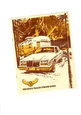 1985 BUICK Trailer-Towing Tow Guide / Brochure: RIVIERA,REGAL,CENTURY,SKYLARK,