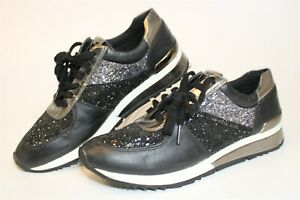 Michael Kors Womens 9 40 M Glittery Textured Leather Lifestyle Sneakers Shoes