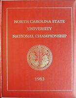 1983 NC STATE WOLFPACK BASKETBALL NATIONAL CHAMPIONSHIP COMMEMORATIVE BOOK