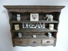 Farmhouse Wooden Wall Rack in a Weathered Oak Finish