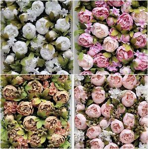 LUXURY PEONIE WALL Rose Flower Panel Bouquet Backdrop Floral Decor 60*40cm UK