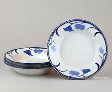 Dansk BELLES FLEURS BLUE: Set of 2 Soup Bowls, SUPERB Condition! Tivoli