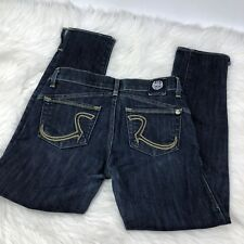 Rock and Republic Capris Jeans Womens Size 25 with R Logo Pockets Dark Wash