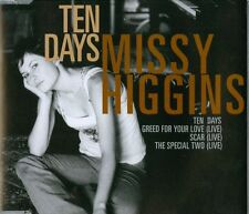 MISSY HIGGINS - TEN DAYS - Australian 4 Track CD Single Includes 3 Live tracks