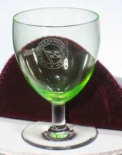 N.V. ROTTERDAMSCHE LLOYD LINE Vaseline Glass Goblet NV souvenir logo