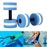 2Pcs Light Weight Water Dumbbell Aquatic Hand Buoy Foam Aerobic Barbell Fitness