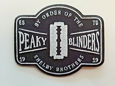 PEAKY BLINDERS BY ORDER OF THE SHELBY BROTHERS DRAMA EMBROIDERED PATCH UK SELLER