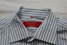 E8306 Eterna Excellent redline Businesshemd Kurzarm 40 blau-grau, weiß gestreift