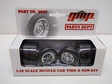 GMP 1:18 Scale Diecast - Muscle Car Tire & Rim Kit - Parts Dept #9007