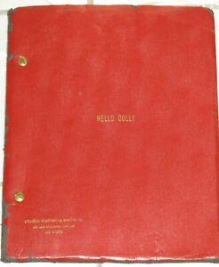 HELLO, DOLLY! ORIGINAL SCRIPT FROM THE ORIGINAL 1964 BROADWAY PRODUCTION! RARE!