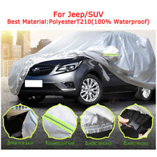 Universal Car Cover Uv Rain Protection Outdoor Waterproof For Jeepsuv Fits Jeep