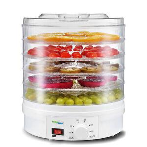 Essicatore per alimenti carne frutta verdura 5 vas da 35 a 70 ° C