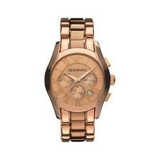 Emporio Armani AR0365 Mens Rose Gold Chronograph Watch