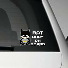 BAT BABY ON BOARD VINYL CAR DECAL STICKER JAP JDM STREET VW VAG EURO DUB PARENT