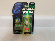 Kenner Star Wars Power of the Force Greedo with Commtech Chip figure, New!