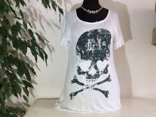 Locker sitzende Damenblusen, - tops & -shirts mit Rundhals-Ausschnitt und Gothic
