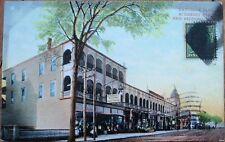 New Bedford, MA 1909 Postcard: Haycenda Bldg/Acushnet Ave. - Massachusetts Mass