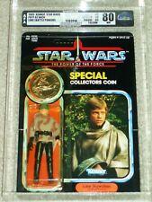 Vintage Star Wars 1985 AFA 80/80/85  LUKE SKYWALKER PONCHO POTF 92 Back card MOC