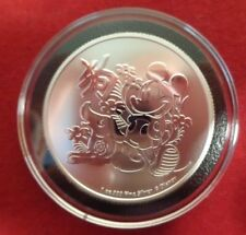 2018 Niue 1 oz Silver $2 Mickey Mouse Coin in Black ring Airtite