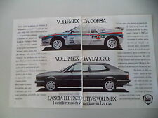 advertising Pubblicità 1983 LANCIA HPE HP EXECUTIVE VOLUMEX
