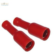 100 circulaires prise rond pour câble 0,5 -1, 5 mm² rouge cosses