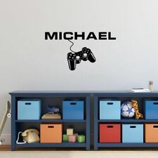 Personalized Game Wall Sticker Boys Bedroom Gamer Decor Removable Wall Decal
