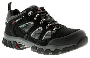 Karrimor Bodmin Low 4 Weather Mens Walking Boots Black/Grey/Red UK Size