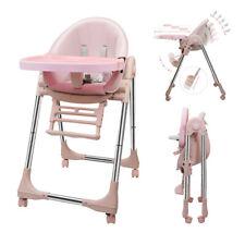 Babystuhl Kinderstuhl Hochstuhl Verstellbar Klappbar Liegefunktion Doppeltablett