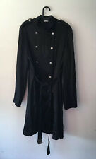 Ann Demeulemeester Black Trench Coat Size 38