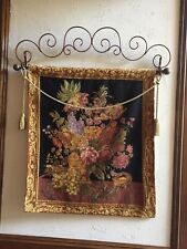 Tapestry with great colors rich - gorgeous includes iron hangar along