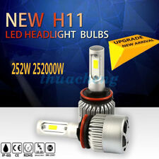 2x 252W 25200LM LED HEADLIGHT BULBS KIT H11 6500K HIGH POWER LOW BEAM