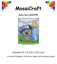 MosaiCraft Pixel Craft Mosaic Art Kit 'Baby Boy' Pixelhobby