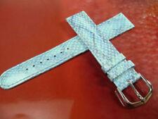 Blue Faux Leather Wristwatch Straps